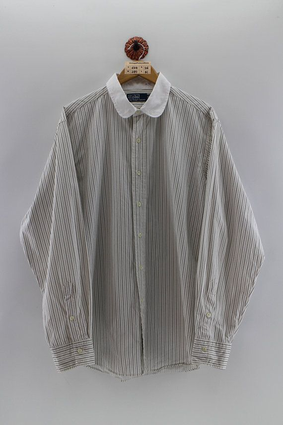 56044736 Vintage 90's POLO RALPH LAUREN Oxford Shirt Men Xlarge Polo Usa Stripes Buttondown  Long Sleeves Shirt Ralph Lauren White Shirts Men Size Xl | VPS PAAN ...