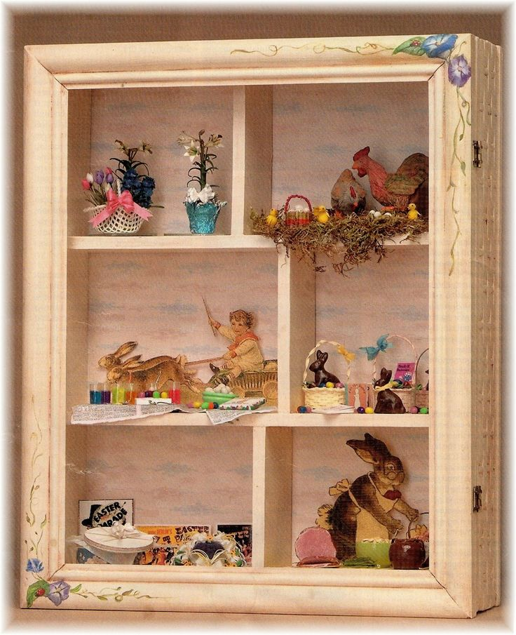 Easter In A Shadow Box From DYI DOLLHOUSE MINIATURES