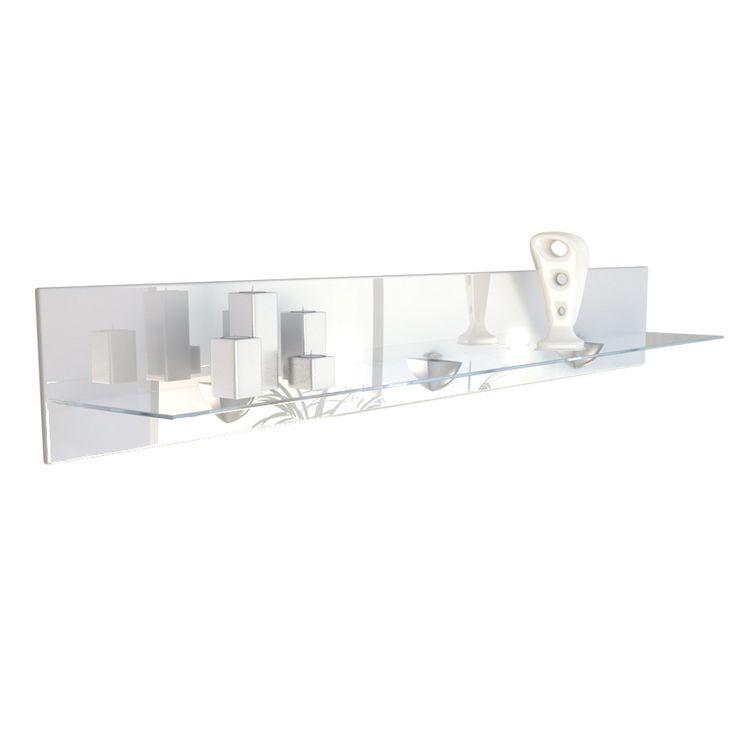 Regal Bari V2: für die Wand mit Glasablage & LED Beleuchtung vladon.de