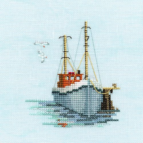 Derwentwater | Derwentwater Designs FISHING BOAT Minuet Cross Stitch Kit