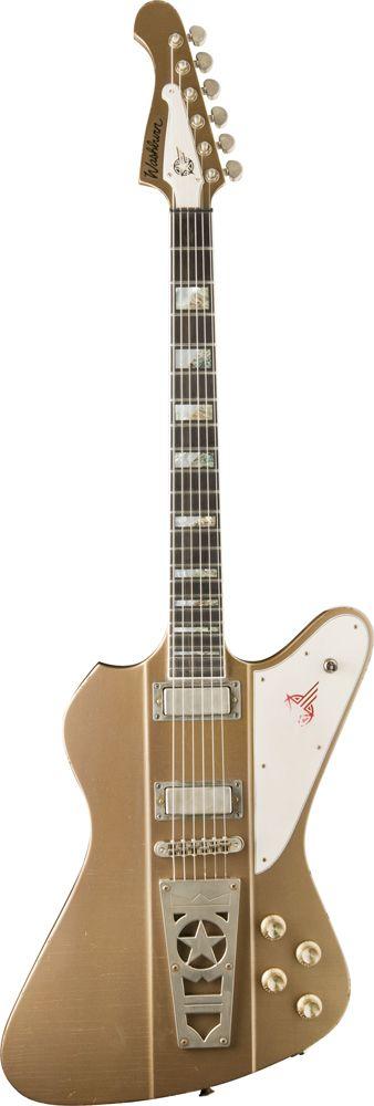 WASHBURN Signature paul stanley time traveler golden mist - Guitares électriques - Rétro - néo-vintage | Woodbrass.com