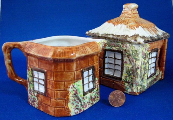 Cottage Ware Cream And Sugar Price Kensington Vintage