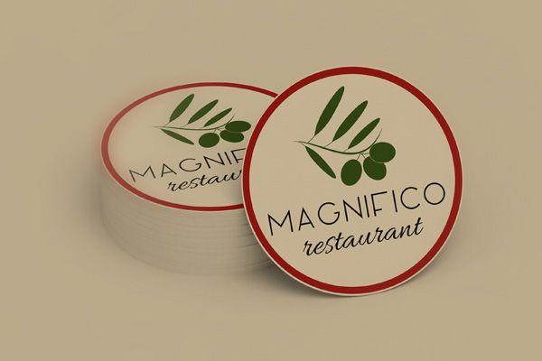 Magyar - olasz étterem számára készített logóterv