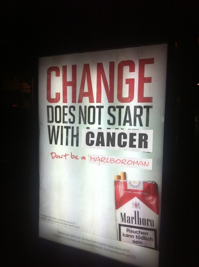 marlboro cancer adbusting