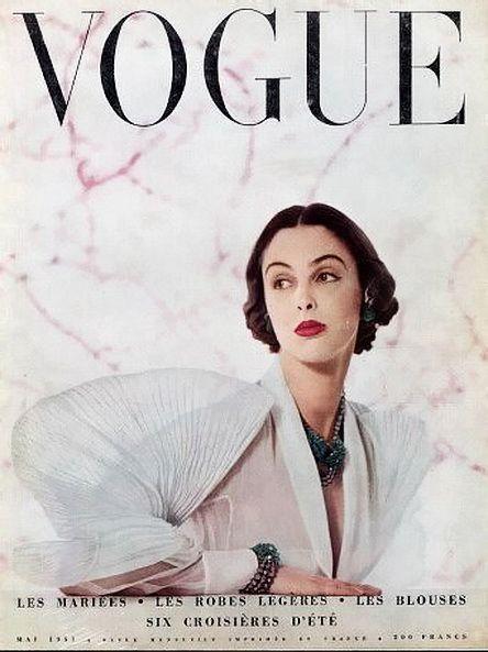 Blouse by Elsa Schiaparelli. French Vogue, May 1951. Photo: Robert Doisneau.