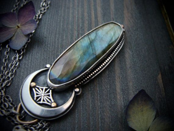 andromeda ... labradorite pendant by sirenjewels on Etsy