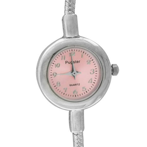 Watches - salmon pink arabic numeral beads charms bracelets fit all brands Image.