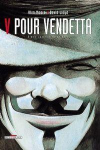 L'anglais Alan Moore a écrit V Pour Vendetta entre les années 1988 et 1990 pour DC Comics. L'auteur génial de Watchmen livre avec V Pour Vendetta un nouveau joyau. Marqué par le gouvernement Thatcher et hanté par les dérives totalitaires de ce siècle, Moore utilise la figure du super-héros pour ériger la liberté en valeur absolue. Sous ses dessous de comics austère avec le trait dur et sombre de David Llyod, le récit de l'anglais mérite plus que tout le qualificatif de roman graphique