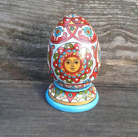 Hand Painted Easter egg wooden egg decorated от FairyTaleRussian