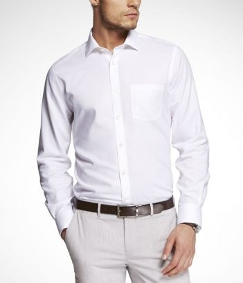 Jb white dress shirt with pocket men 39 s clothing i for Dress shirt no pocket
