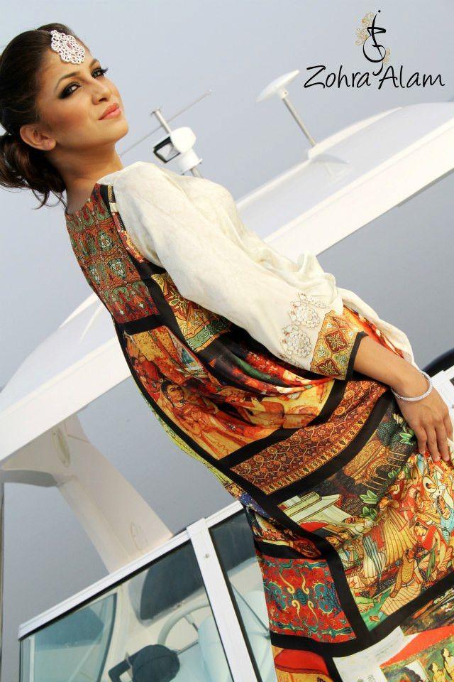 White Printed Silk Tunic | VIVA-LUXE