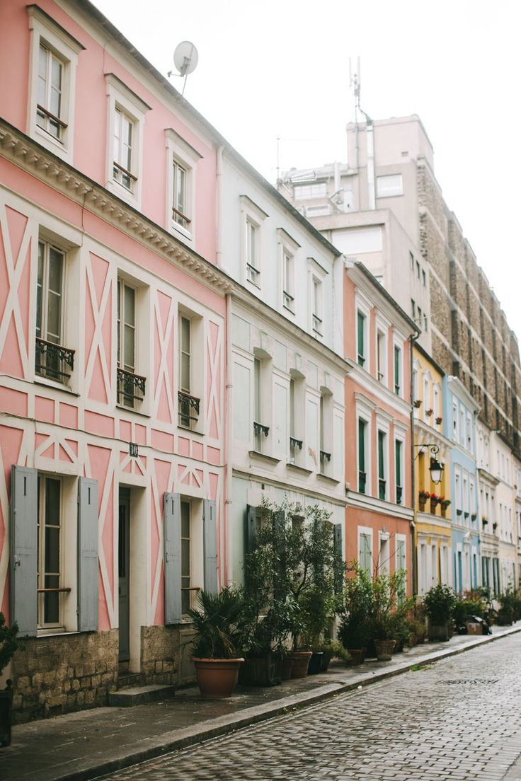 Colorful Parisian streets.