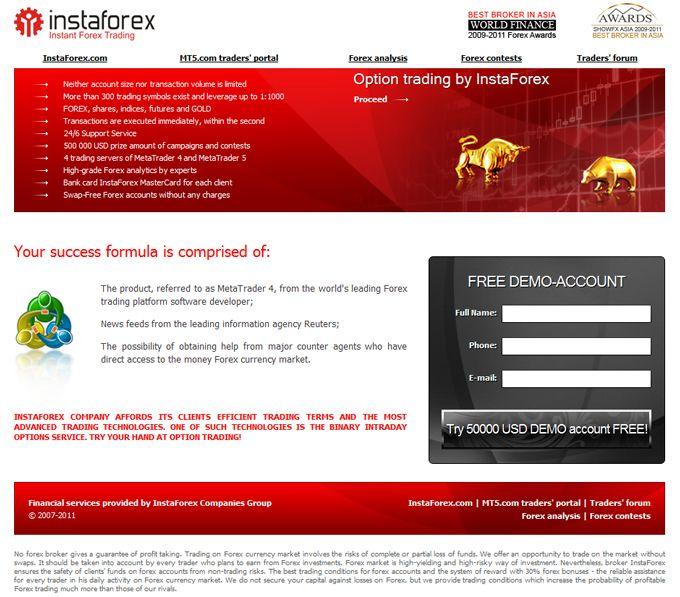 Trading option di InstaForexTrading option di InstaForex Apakah anda ingin mencoba trading option? InstaForex menawarkan kliennya dengan sebuah binary intraday options dengan kondisi yang paling menguntungkan.