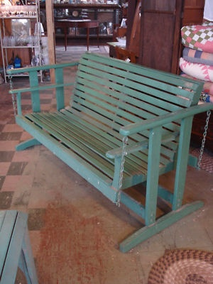 vintage wooden porch glider from the 1940's. I have one similar to this and I love it!!!