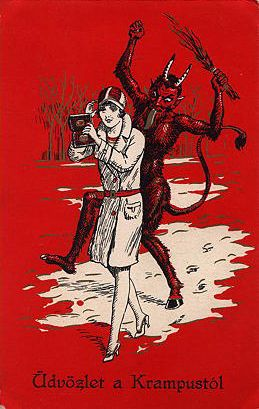 krampus13   Vintage Austrian postcard   Michael Doyle   Flickr