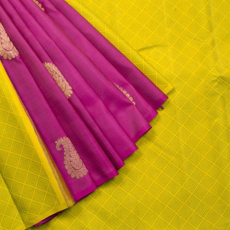Kanakavalli Handwoven Kanjivaram Silk Sari 1002243 - Parisera