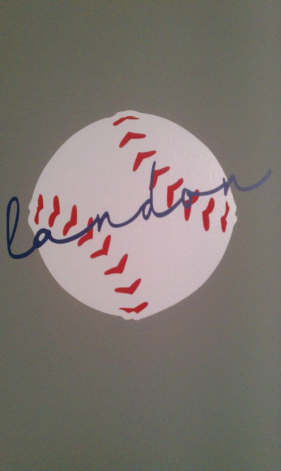 Personalized baseball room artwork: perfect for Nolan's nursery to go above crib across from big baseball wall