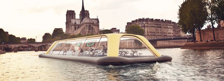 carlo ratti proposes human-powered gym boat along the seine in paris