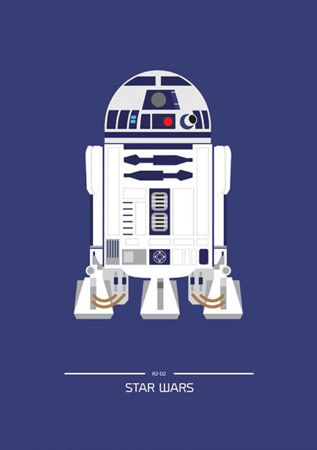 Star Wars (1977) ~ Minimal Movie Poster by David O'Mara #amusementphile