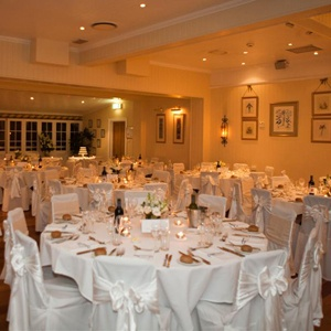 White on white chair covers