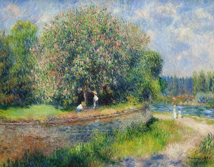 Ренуар, Пьер-Огюст (1841-1919) - Цветущий каштан. Старая и Новая Национальные Галереи (Берлин)