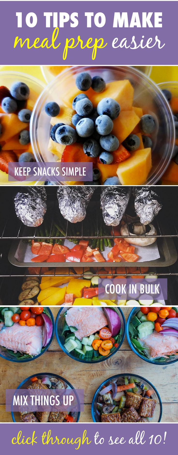 It takes practice to get the hang of planning and prepping your meals. Here are 10 tips to make ‪#‎MealPrepMonday‬ easier: