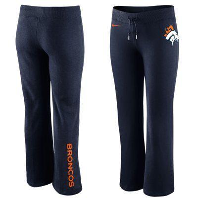 Nike Denver Broncos Women's Tailgater Fleece Pants - Navy Blue