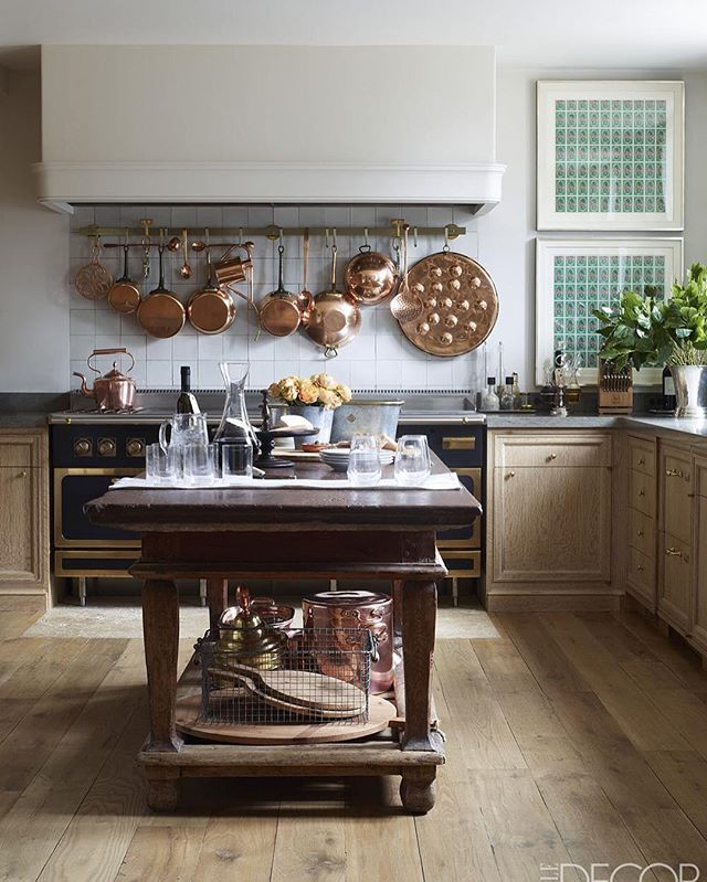 I Shall be posting many more pictures of this house which really blew me away... @emmajanepilkington s country house in #connecticut #with The Most sublime Blend of Belgian and Swedish Antiques and Influences - a beautiful Story Produced By The wonderful @cynthiaefrank and Shot By @simonuptonphotos for @elledecor - this kitchen with The Swedish baroque Stone- top- table... Delightful and perfection... this uber- talented Designer( if i remember correct) did a stylish Apartment for Ivanka…
