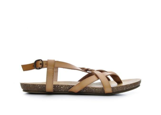 Women's Blowfish Granola B Footbed Sandals Whiskey | Shoe Carnival