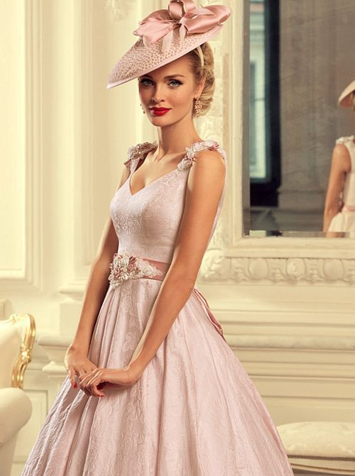Glamour Gloss Fashion Hochzeit Kleid Standesamt Kleid Rose Alte Kleider