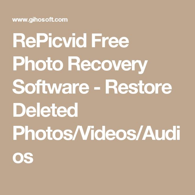 RePicvid Free Photo Recovery Software - Restore Deleted Photos/Videos/Audios