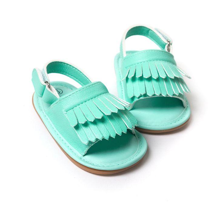 아기 모카신 세련된 pu 가죽 술 술 여자 아기 신발 Scarpe Neonata 후크 및 루프 야외 신발 하드 고무 바닥
