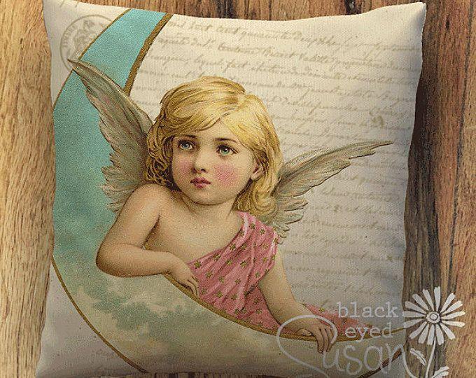 Angel I Christmas Pillow 12x12 16x16 20x20 Available