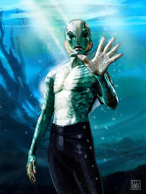 Abe Sapien really needs to be my boyfriend - <3 him in Hellboy!!!!!