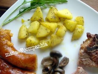 Batatas salteadas com tomilho