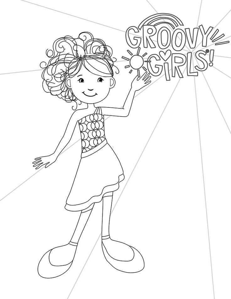 33 best groovy girls coloring pages images on pinterest for Groovy coloring pages