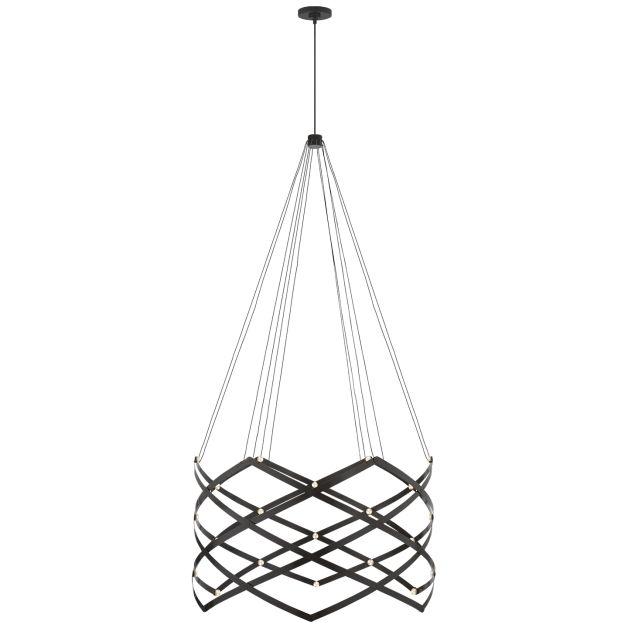 Interlace expandable chandelier