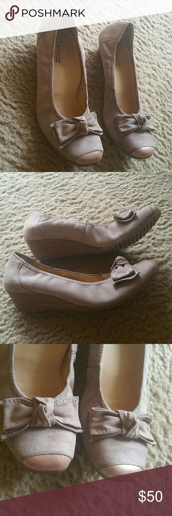 Paul Green wedges shoes size 7 Good condition  The size are 4.5 UK Paul Green Shoes Wedges