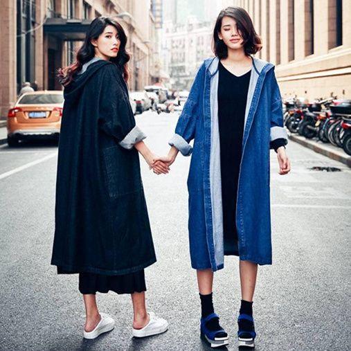 Aliexpress.com : Buy Denim Trench Coat For Women 2016 Autumn Coat ...