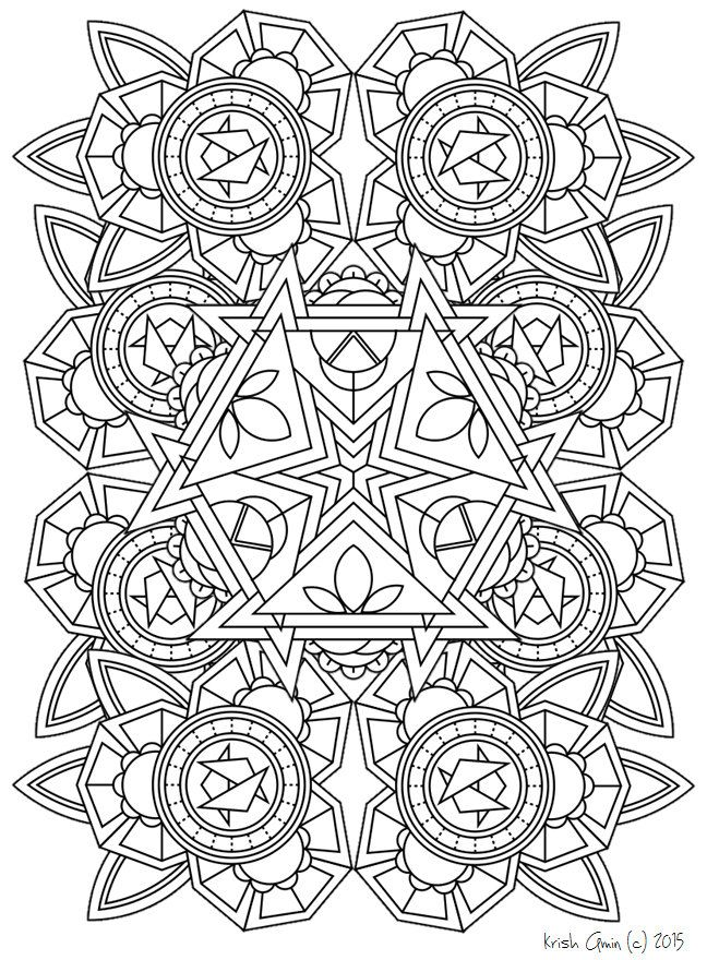 Magnífico Mandala Para Colorear Gratis Adultos Imprimibles Colección ...