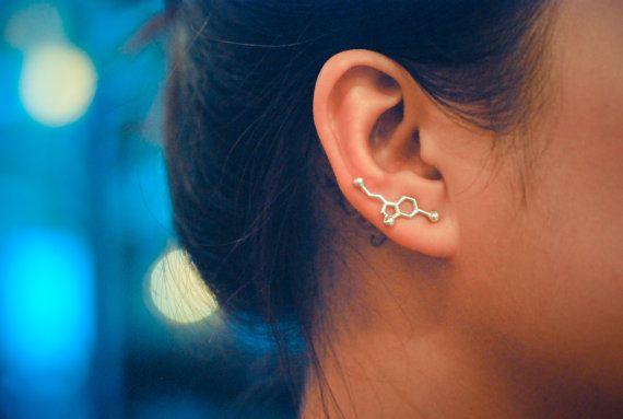 Serotonin ear pin. Love this!