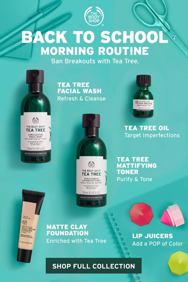 We Know Mornings Can Be A Crazy So We Ve Put Together A Quick And Easy Tea Tree Skincare Routine To Help Produk Perawatan Kulit Produk Jerawat Perawatan Kulit