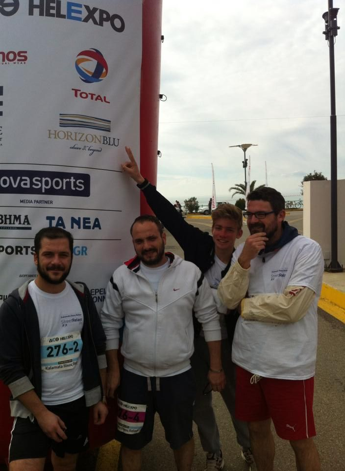 Horizon Blu team at Kalamata Street Relays Charity Run