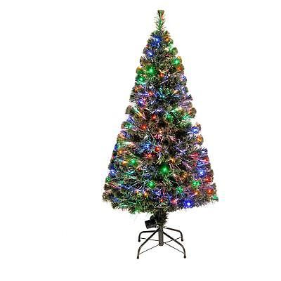 Artificial Christmas Tree Fiber Optic Prelit Artificial Holiday 150 Multi Lights
