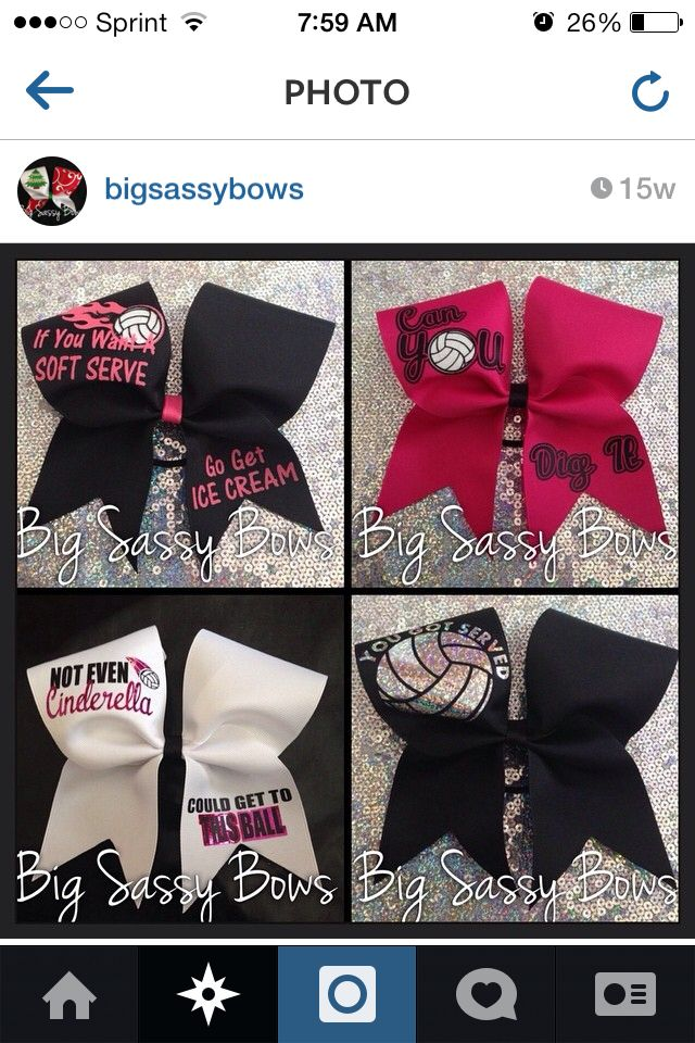 Volleyball bows