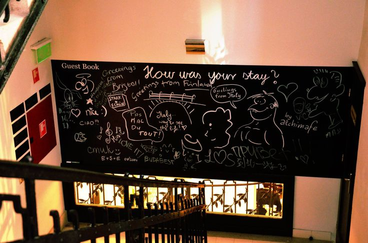 Here is our new Guest Book. Let's draw it full every day.