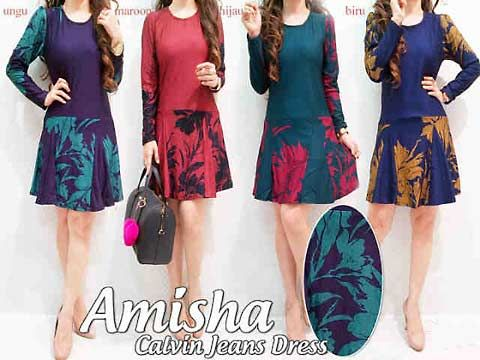 Amisha Sweet Dress  Detail : bahan kaos  Size : All size width/length 48/83cm Weight: 285 gram  Harga: Rp. 150.000,- (Sebelum Discount)