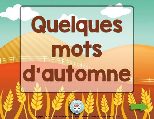 French Fall Vocabulary Quiz