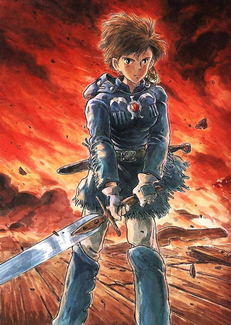 Nausicaä, by Hayao Miyazaki