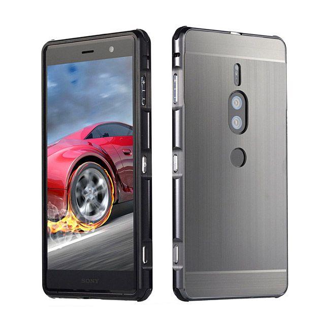 Sony Xperia Xz2 Premium Metallic Bumper Back Case Premium Metallic Sony Xperia Phone Screen Protector